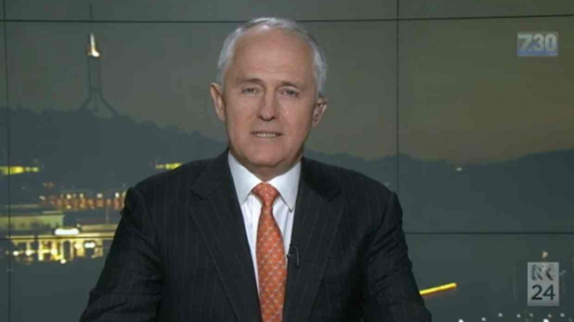 Prime Minister Malcolm Turnbull on ABC's 7.30. Photo: ABC