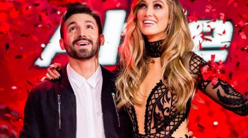 Alfie Arcuri and Delta Goodrem. Photo: Facebook via The Voice Australia