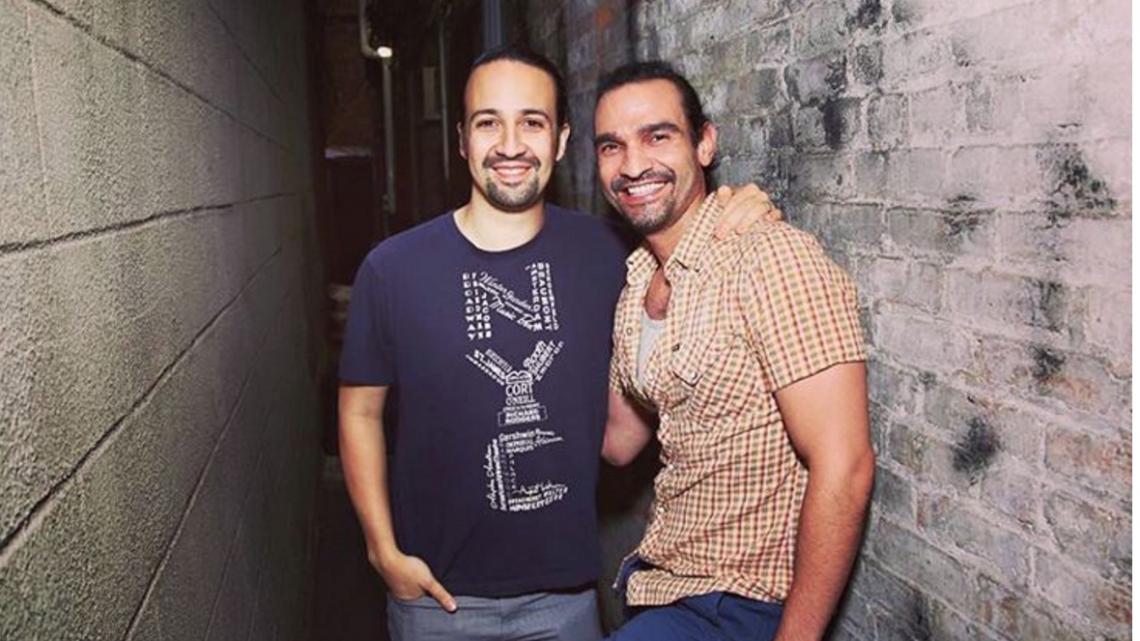 The two Hamiltons: Lin-Manuel Miranda & Javier Muñoz (R). Photo: Instagram via hamiltonmusical
