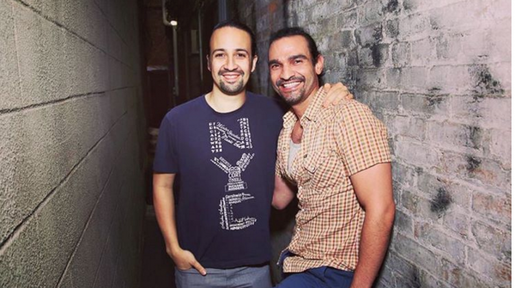 The two Hamiltons: Lin-Manuel Miranda & Javier Muñoz (R). Photo: Instagram via hamiltonmusical