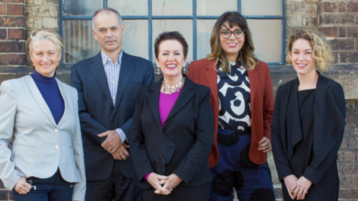 Clover Moore (centre) and her 2016 team of Independent Sydney City council candidates. Photo: Supplied