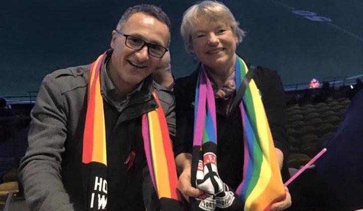 Australian Greens Senators Richard Di Natale (L) and Janet Rice. Photo: Facebook