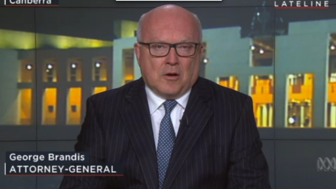 Attorney-General George Brandis hopes the Labor Party will allow the plebiscite to move forward. Picture: ABC