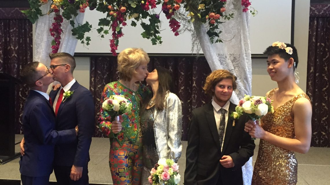 Rainbow Campus Sydney University Wedding. Photo: Shannon Power