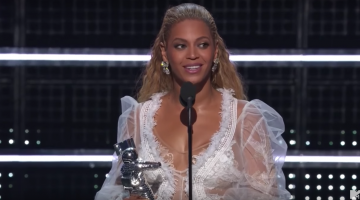 Beyonce accepts the award for Video Of The Year at the MTV Video Music Awards. Picture: MTV/YouTube