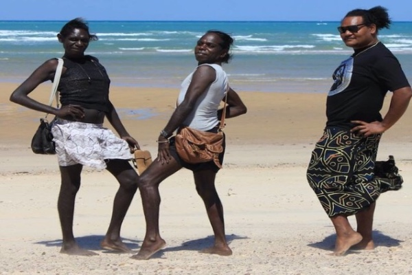 Some of the Tiwi Island sistagirls. Picture: Allan Clarke/Buzzfeed