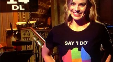 Margot Robbie on SNL. Photo: Twitter via @Sayidodownunder