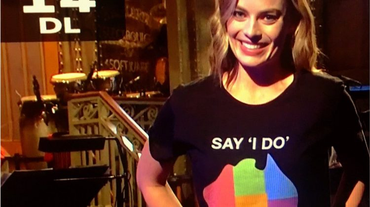 Margot Robbie on SNL. Photo: Twitter via @Sayidodownunder