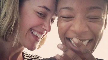 Lauren Morelli and Samira Wiley. Photo: Instagram via @lormorelli