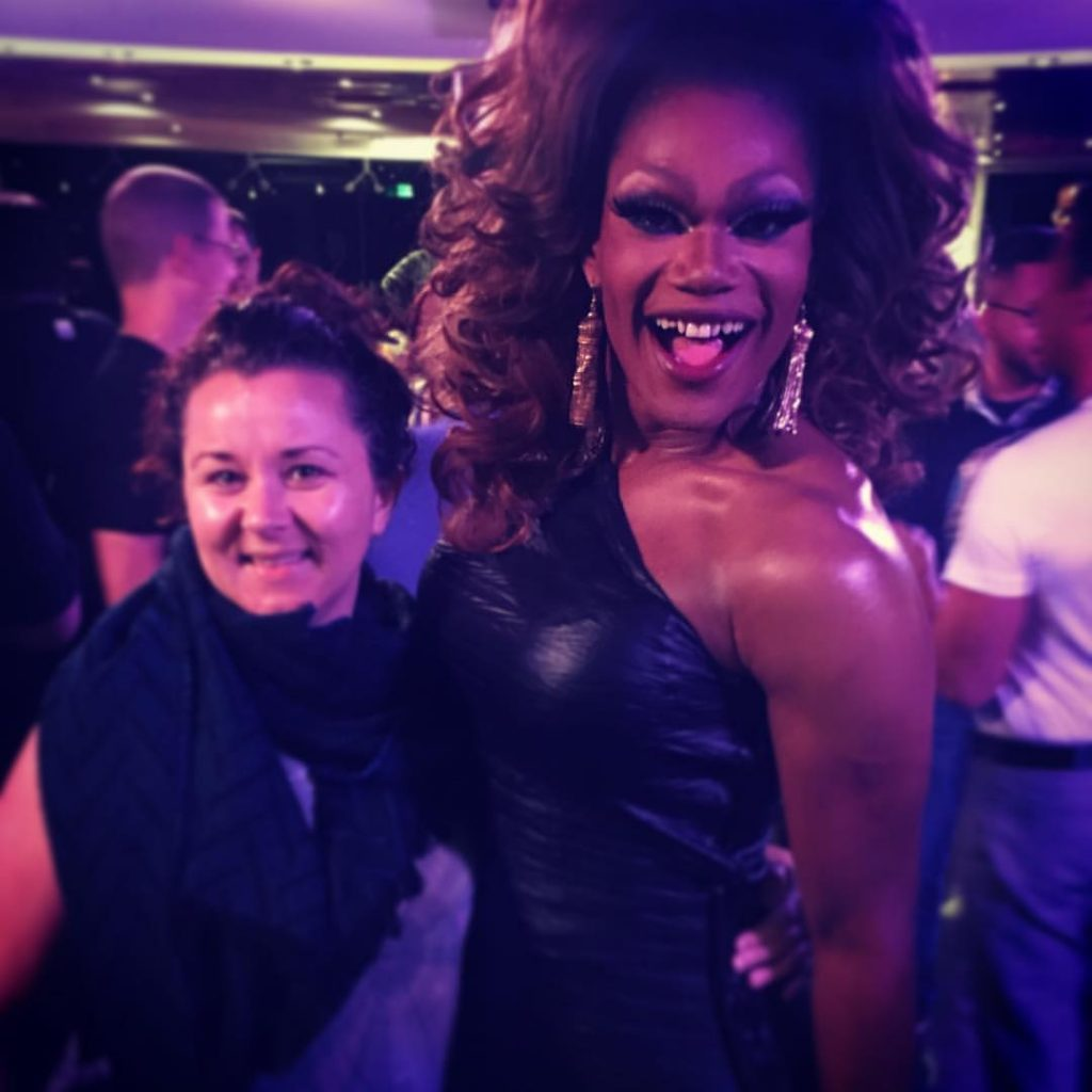 Shannon with season 8 favourite, Chi Chi DeVayne. Photo: Supplied