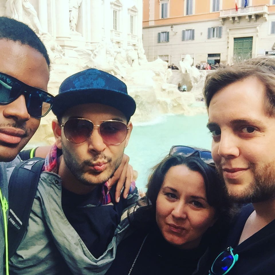 Serving Trevi Fountain realness. Shannon and her friends do Rome. Photo: Supplied.