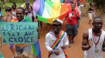 Uganda's first pride march. Photo via Twitter