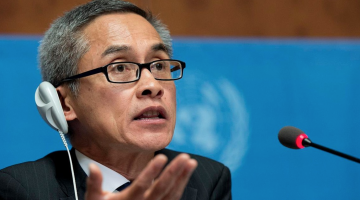 Vitit Muntarbhorn, the UN's independent investigator on LGBTI rights. Photo: Twitter