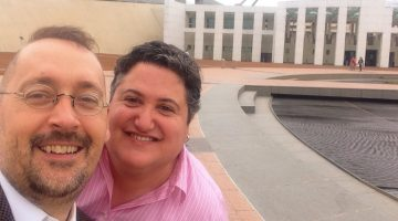 OII Australia Executive Directors Morgan Carpenter (L) and Tony Briffa. Photo: Supplied