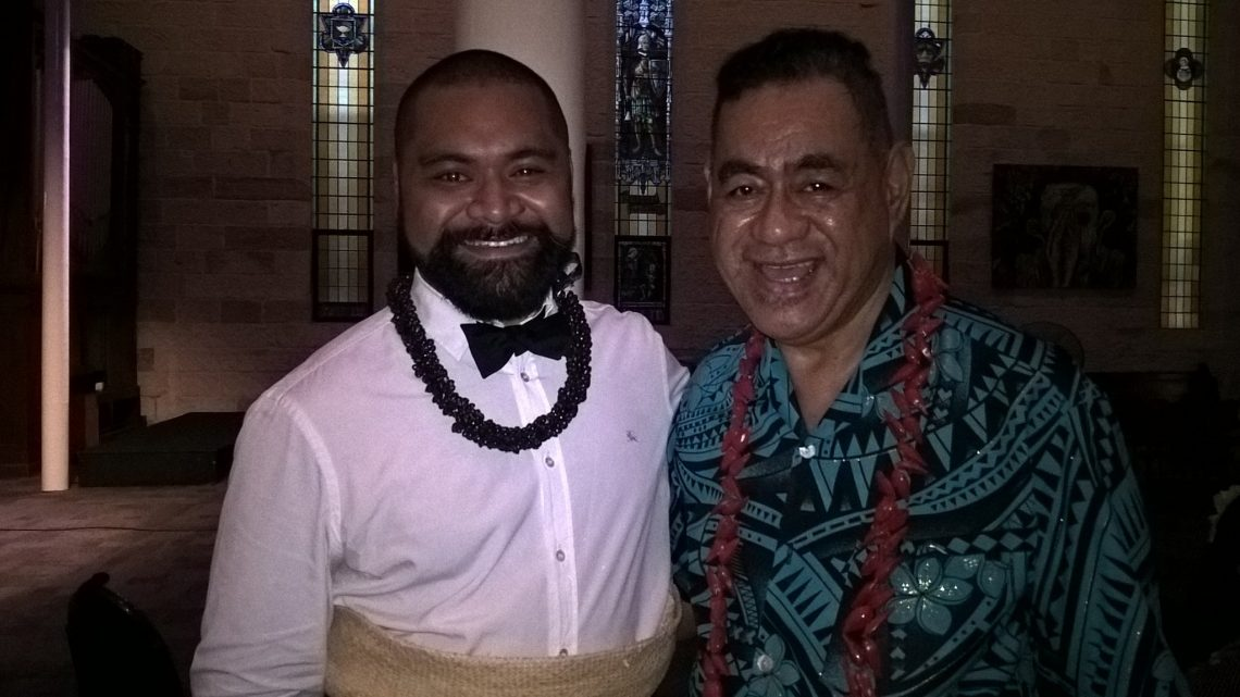 Joseph Sikulu and Ken Moana at the launch of the Oceania Rainbow Network. Photo: Facebook via Oceania Rainbow Network