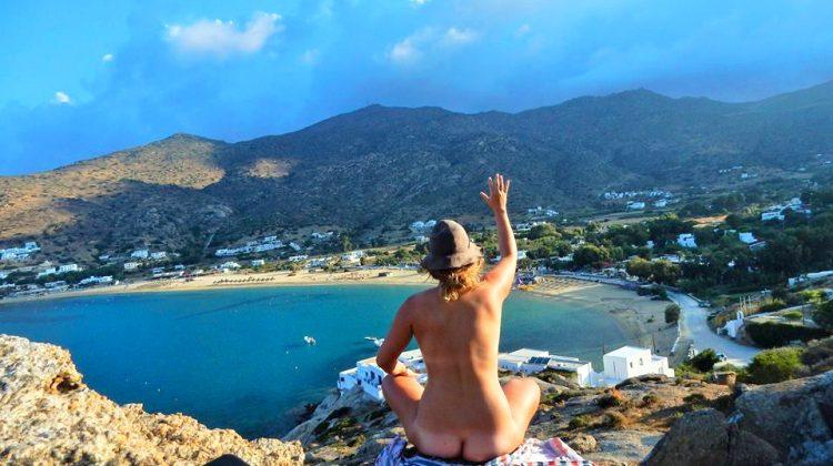 Monika in Ios, Greece. Picture: Monika O'Hanlon