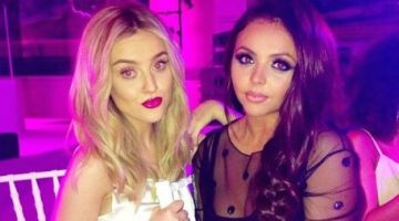 Little Mix members Perrie and Jesy are bonding as the single members of the girls group. Picture: Twitter/Little Mix