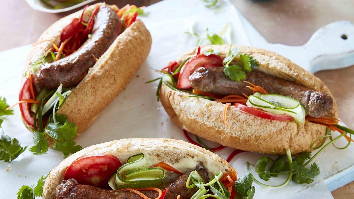 Lamb sausage Banh mi