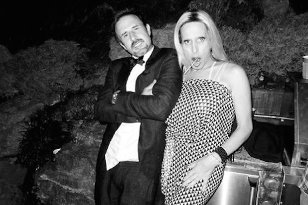 David Arquette poses with sibling Alexis Arquette. Picture: @DavidArquette/Twitter