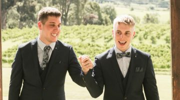 Dylan and Cameron's wedding. Image by Frank Farrugia at Same Love Photography.